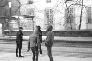 Gerd Wieber: Darmstadt Schnee im März II
