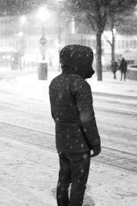 Gerd Wieber: Darmstadt Schnee im März III